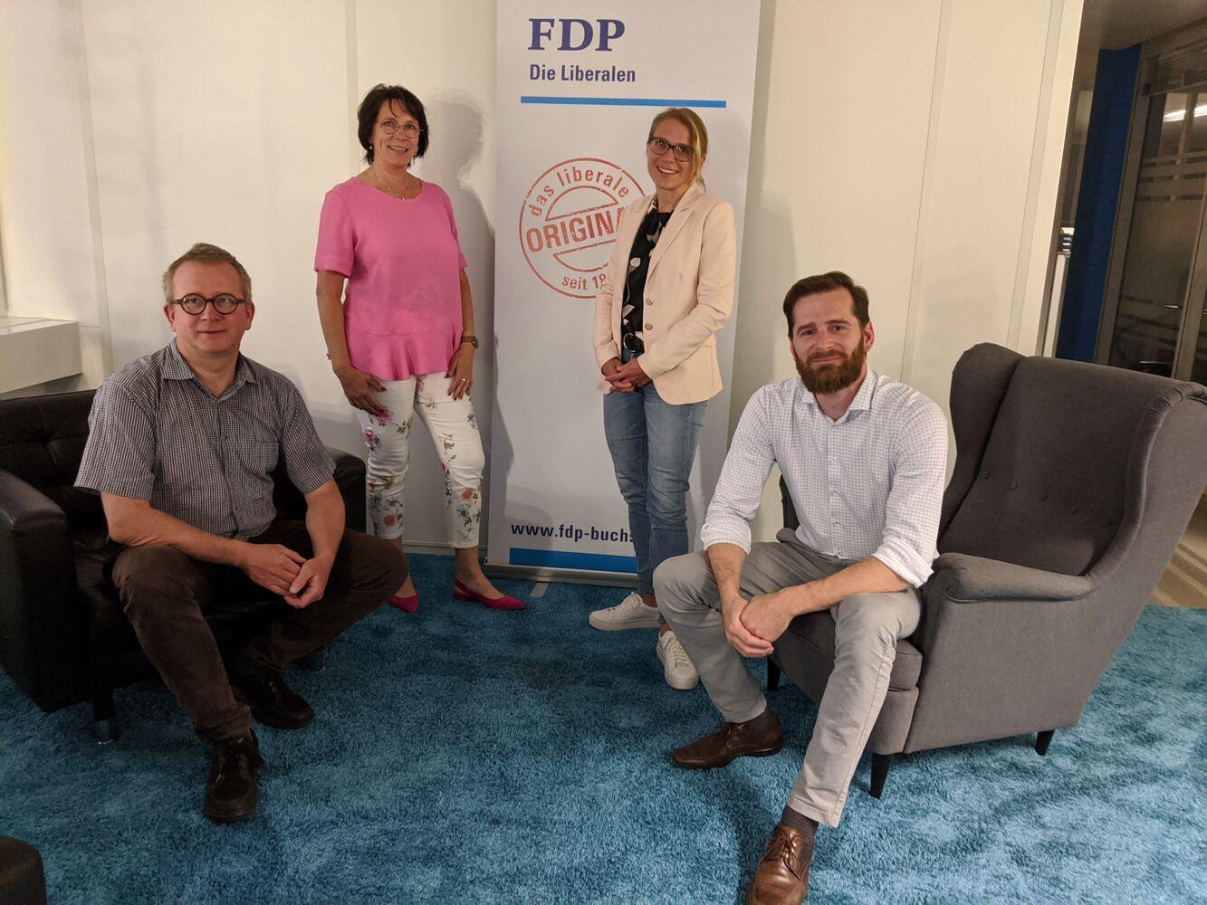 Kandidierende FDP Buchs für Kommunalwahlen 2020