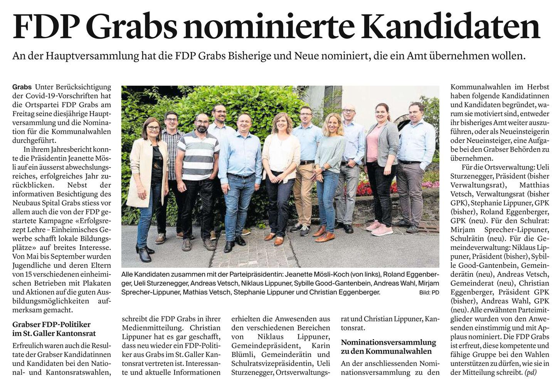 FDP Grabs nominierte Kandidaten